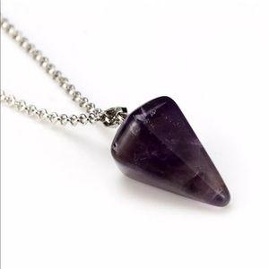 5/$25 💜 Amethyst Pendulum Necklace